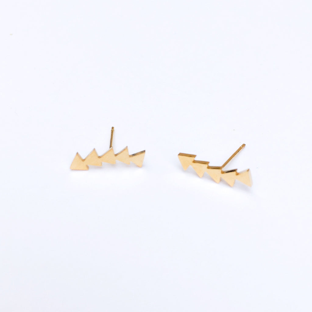 Shooting Triangles Earrings - LAST CHANCE! Low Stock - The Songbird Collection