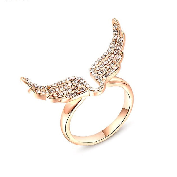 Rose Gold Angel Ring