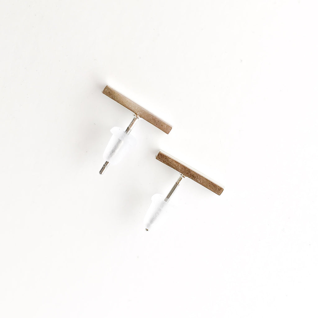 Simple Line Stud Earrings - Fan Favorite!  LOW STOCK !! - The Songbird Collection