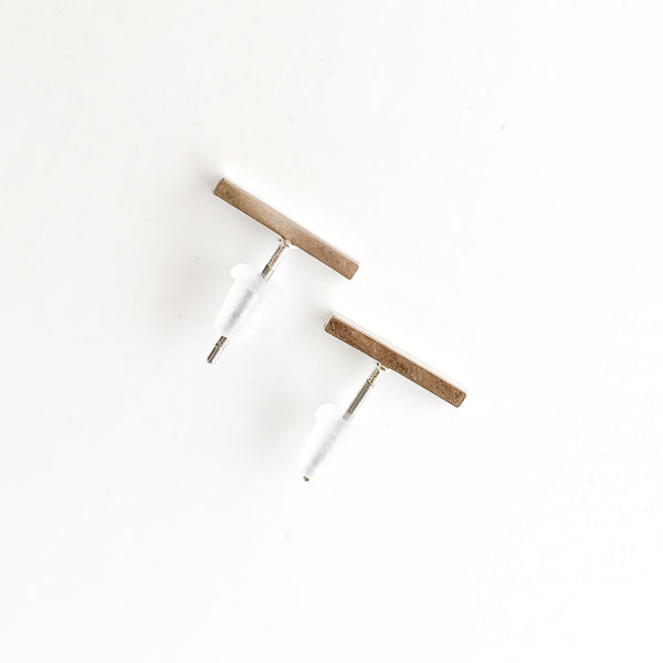 Simple Line Stud Earrings