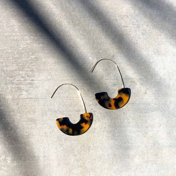 Crystal Cove Demi-Hoop Earrings - The Songbird Collection