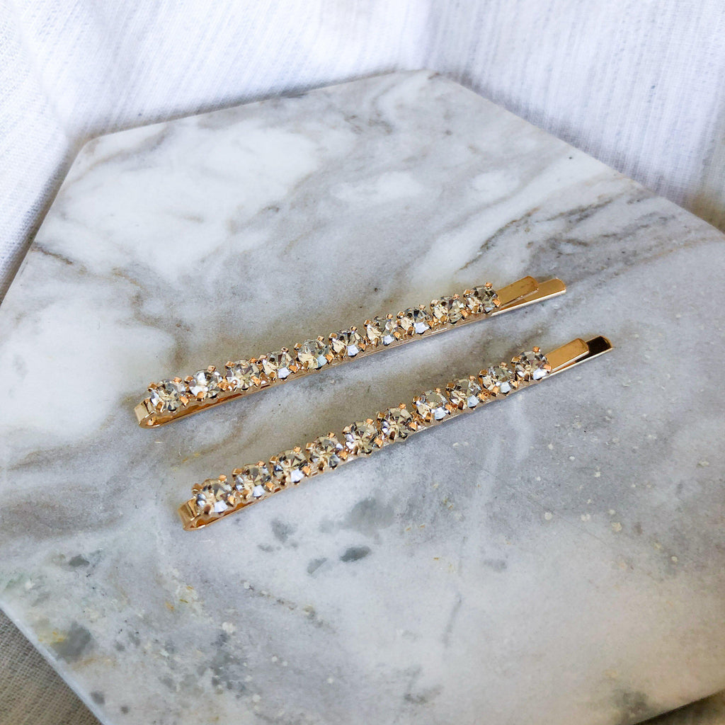 Double Rhinestone Hair Pin Set - The Songbird Collection