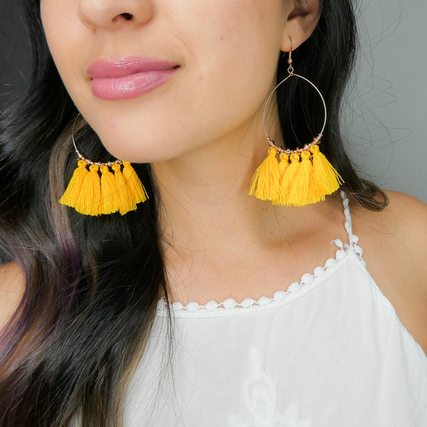 Acapulco Tassel Statement Earrings - The Songbird Collection