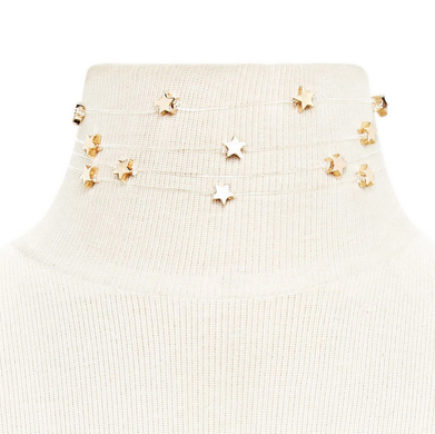 Golden Stars Choker - RESTOCKED!! - The Songbird Collection