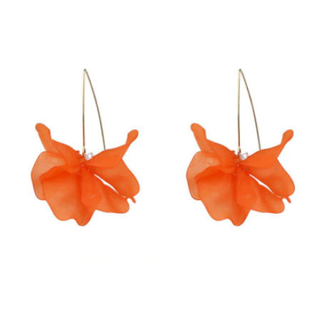 Cyclamen Petal Drop Earrings - 9 Colors on SALE!! - The Songbird Collection