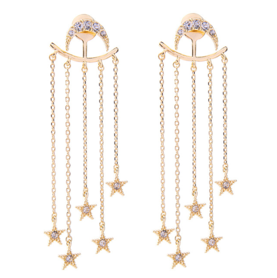 Moon and Stars Earrings - Whew! Back in stock! - The Songbird Collection