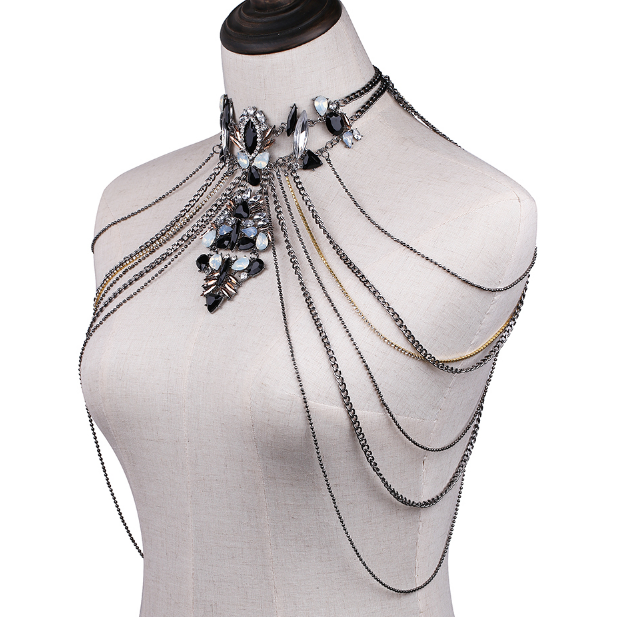 Crystal chandelier body chains the songbird collection the songbird collection crystal chandelier body chains now in stock aloadofball Image collections