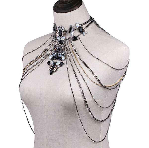 Crystal Chandelier Shoulder Chains - Now in 3 Colors!! - The Songbird Collection
