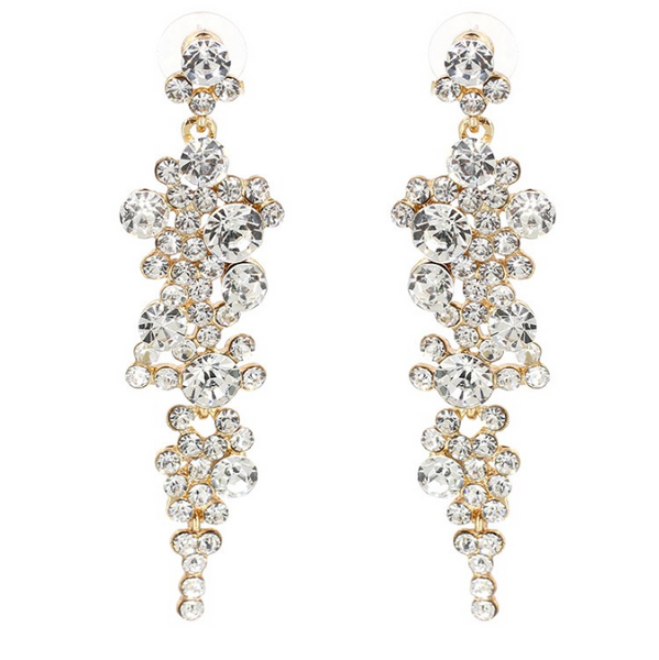 Falling Dream Rhinestone Chandelier Earrings -RESTOCKED