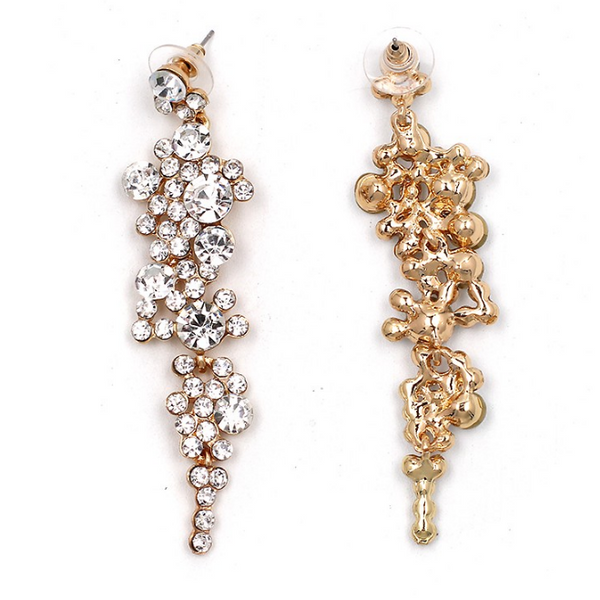 Falling Dream Rhinestone Chandelier Earrings - LAST CHANCE! 3 LEFT - The Songbird Collection