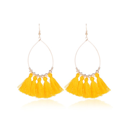 Acapulco Tassel Statement Earrings - 7 COLORS! - The Songbird Collection