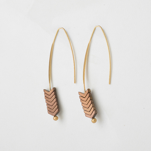 Zoe Natural Stone Earrings - The Songbird Collection