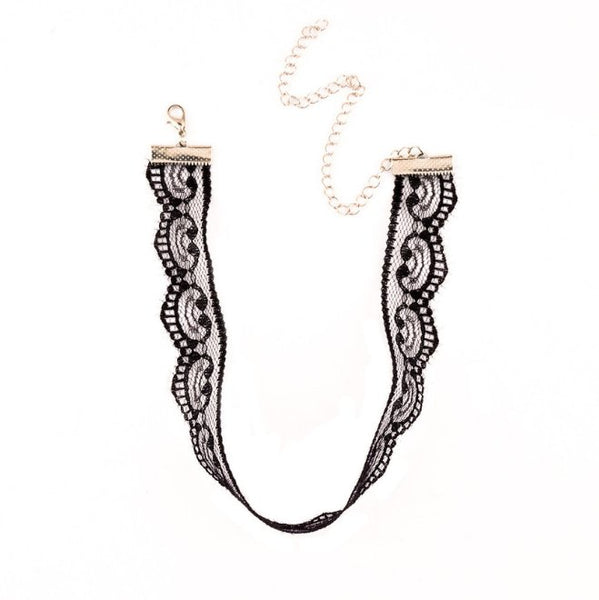 Belle Lace Choker - Black & White LOW STOCK!! - The Songbird Collection