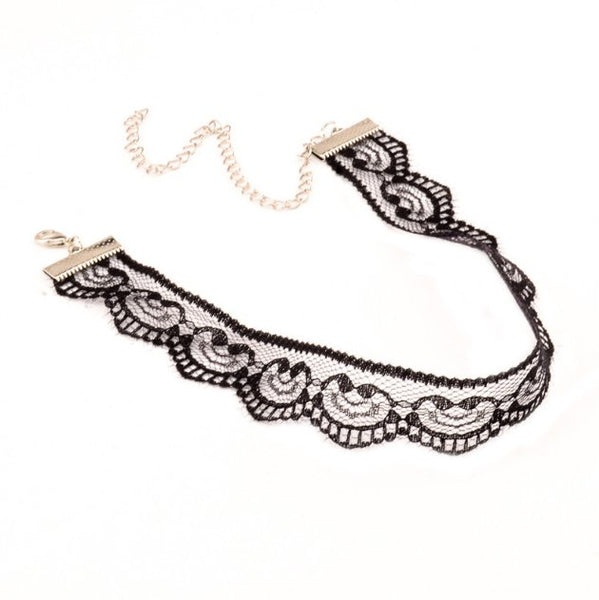 Belle Lace Choker - Black & White RESTOCKED!! - The Songbird Collection