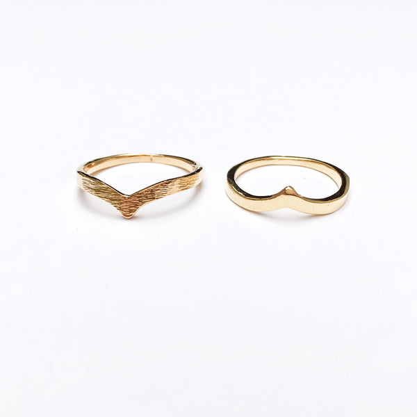 Chevron V Pair of Rings - The Songbird Collection