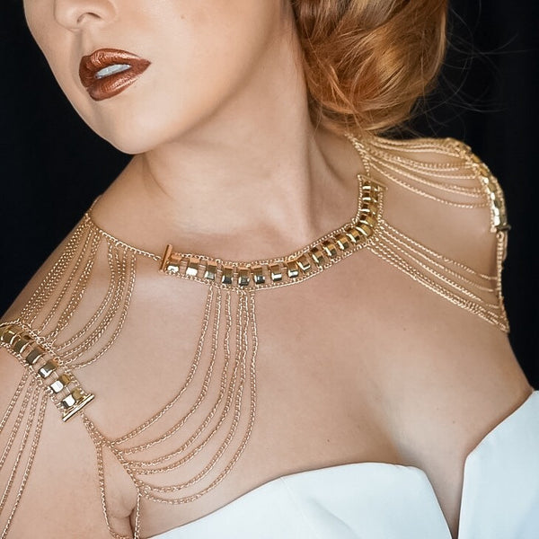 Golden Goddess Shoulder Chains - 2019 NEW Arrival ~ Now in SILVER TOO! - The Songbird Collection