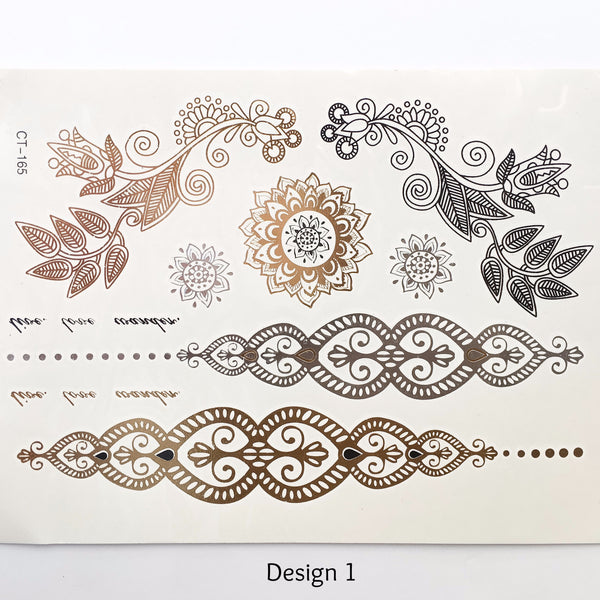 Metallic Temporary Tattoos - The Songbird Collection