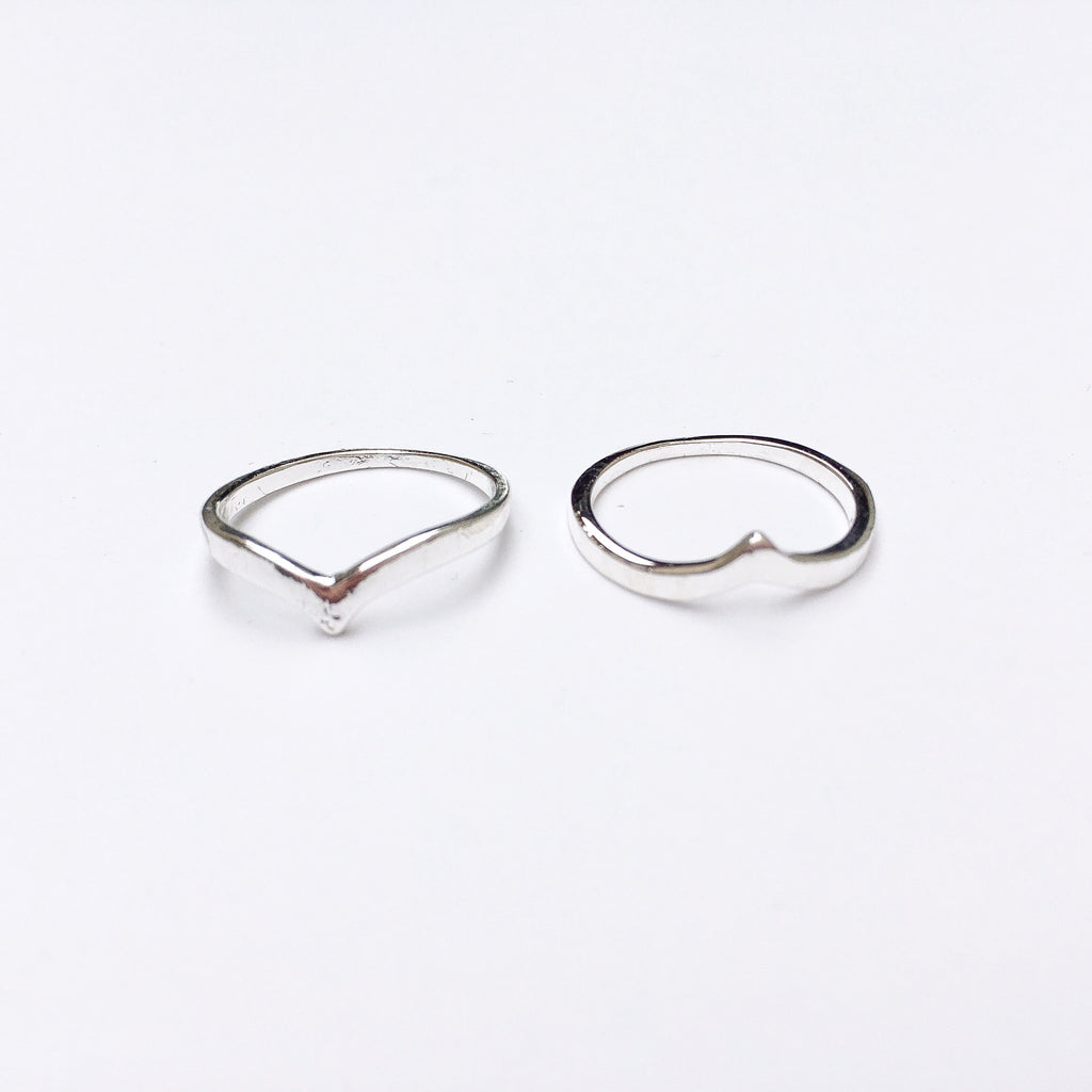 Chevron V Pair of Rings