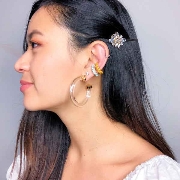Crystal Clear Hoop Earrings - Last Chance! - The Songbird Collection