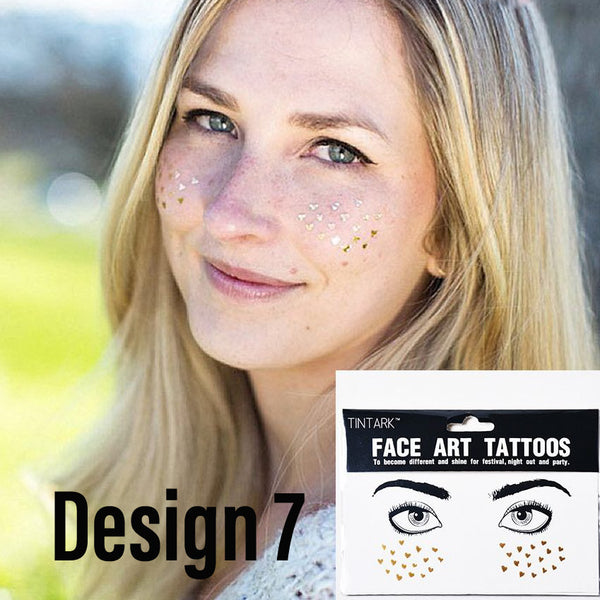 Metallic Face Temporary Tattoo Jewels - #1 BEST SELLER! NEW Designs for 2020!! - The Songbird Collection