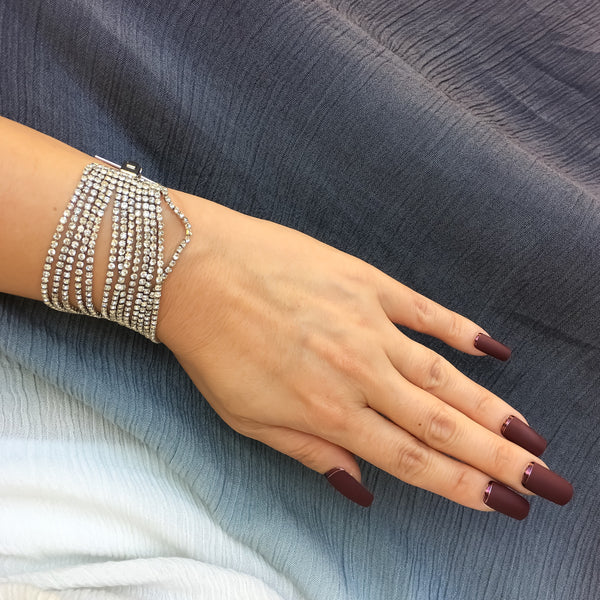 We Own the Night Rhinestone Bracelet - The Songbird Collection