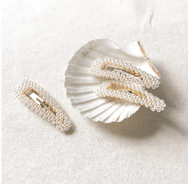 Pearl Snap Barrette Duo - The Songbird Collection