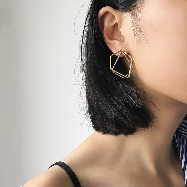 Zendia Geometric Earrings - The Songbird Collection