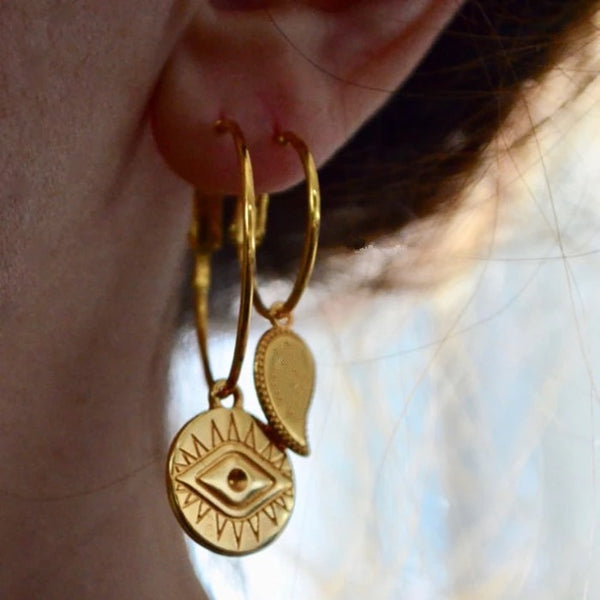 The Golden Eye Hoop Earrings - 6 LEFT!! - The Songbird Collection