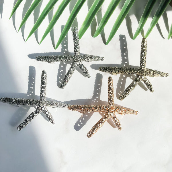 Sea Star Hair Clip - Gold RESTOCKED!! - The Songbird Collection