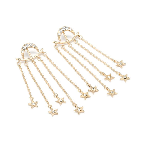 Moon and Stars Earrings - LOW STOCK! Last Chance!! - The Songbird Collection