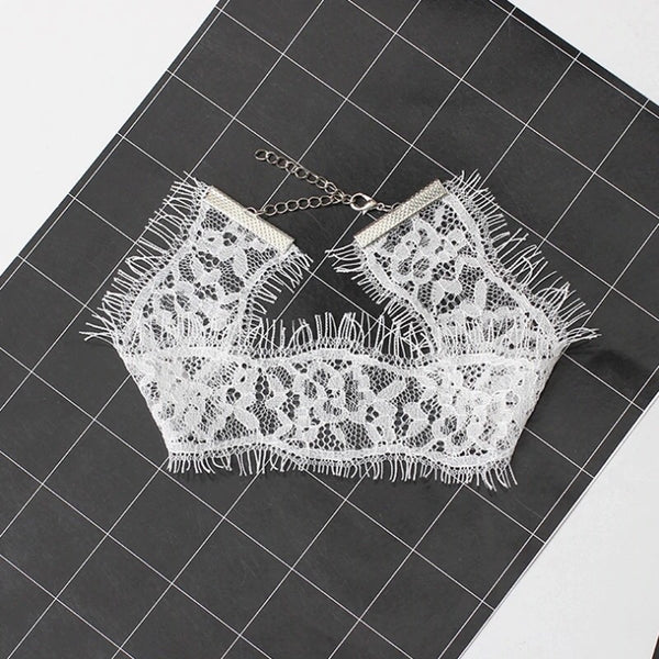 Naughty or Nice Lace Choker- White Almost SOLD OUT! - The Songbird Collection