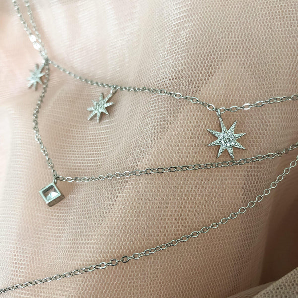 Cadence Starlight Layered Necklace - The Songbird Collection