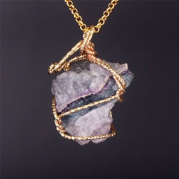 Raw Stone Crystal Necklace - 6 Colors Selling Out! - The Songbird Collection