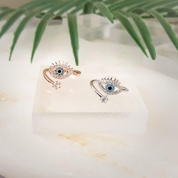 Blue Eye Ring - Now in SILVER and Rose Gold!