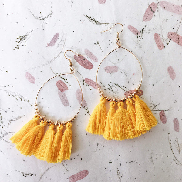 Acapulco Tassel Statement Earrings - 9 COLORS Almost Sold Out! - The Songbird Collection