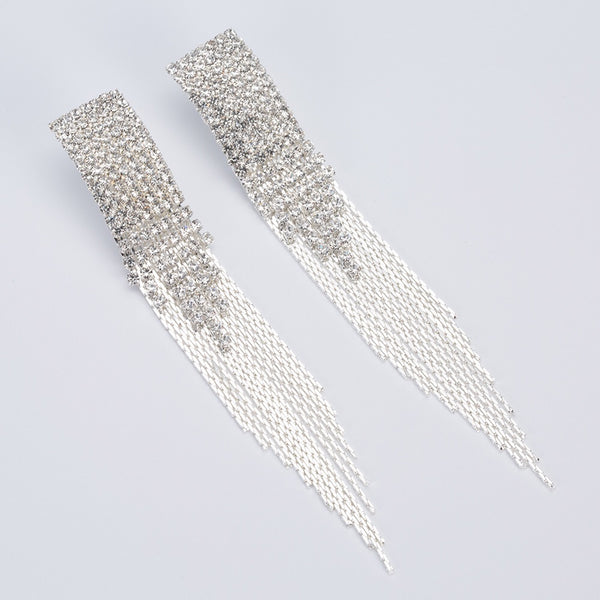 Rhea Rhinestone Duster Earrings - The Songbird Collection