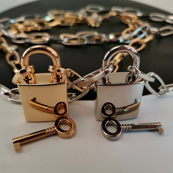 🔒 Lock and Key 🔑  Chain Necklace - The Songbird Collection