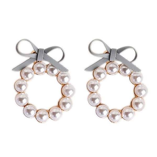 Pearl Wreath Ear Jackets