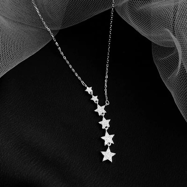 Star Crossed Sterling Silver Necklace - The Songbird Collection