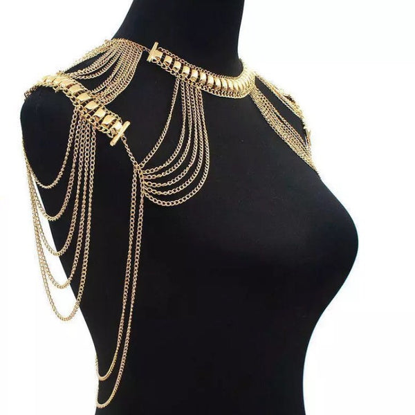 Golden Goddess Shoulder Chains - The Songbird Collection