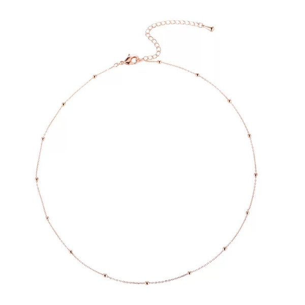 Satellite Beads 925 Sterling Silver Choker - The Songbird Collection