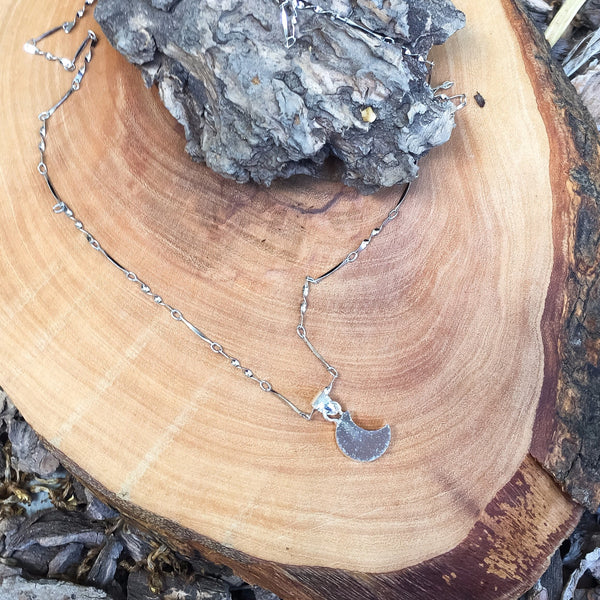 Silver Moonlight Druzy Necklace - 925 Sterling Silver