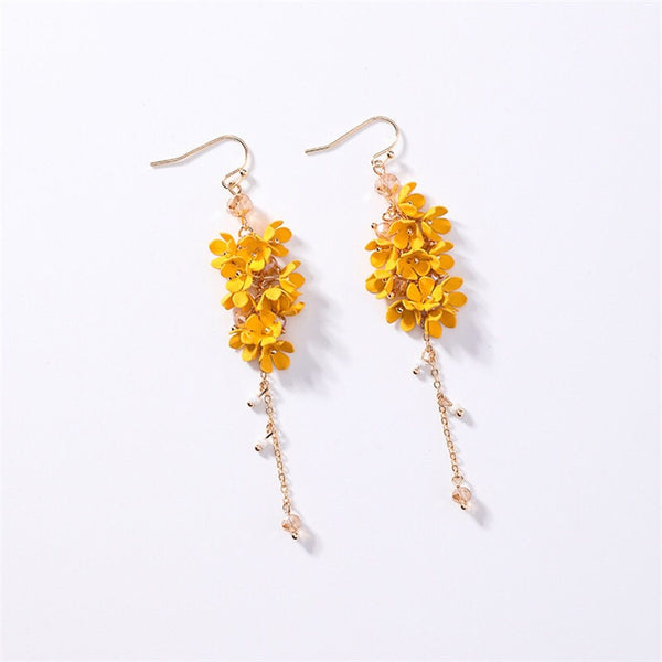 Angelica Flower Drop Earrings - 4 Colors! - The Songbird Collection