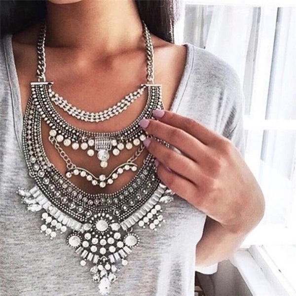 Zia Maxi Statement Necklace - 2️⃣ Left!