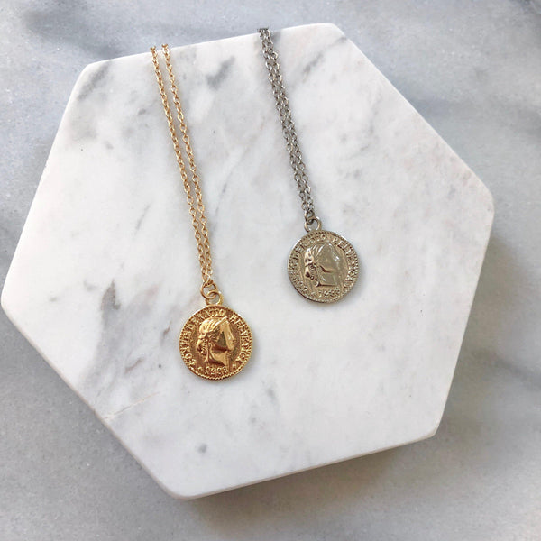 Cara Mia Coin Pendant Necklace - Last Chance! LOW STOCK! - The Songbird Collection