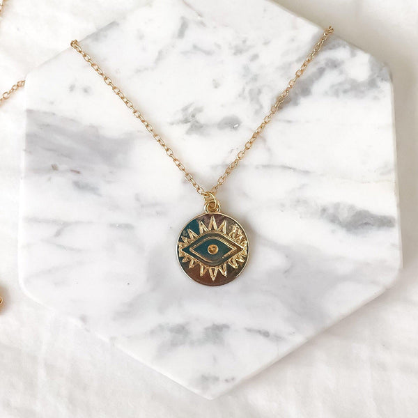 The Golden Eye Necklace - 2 LEFT!! - The Songbird Collection