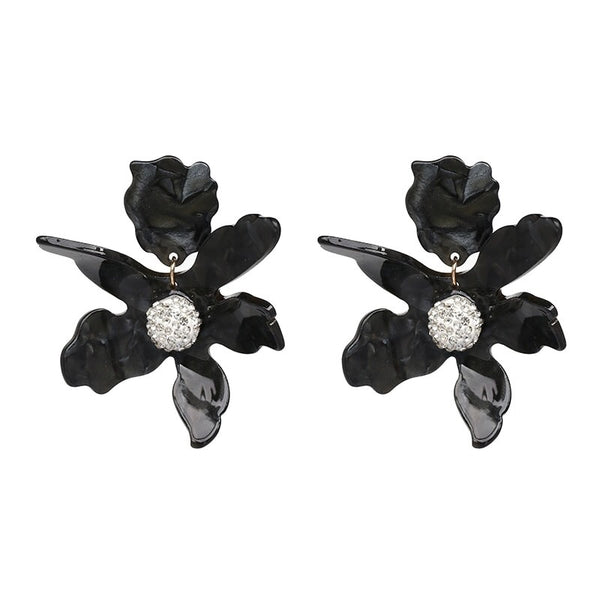 Rue Flower Clip-On Earrings - 3 Colors! - The Songbird Collection
