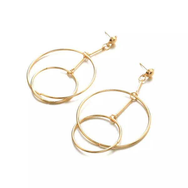 Nikki Drop Hoops Earrings - The Songbird Collection