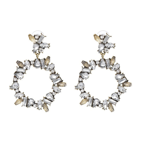 Crystal Wreath Earrings - 3 Colors! - The Songbird Collection