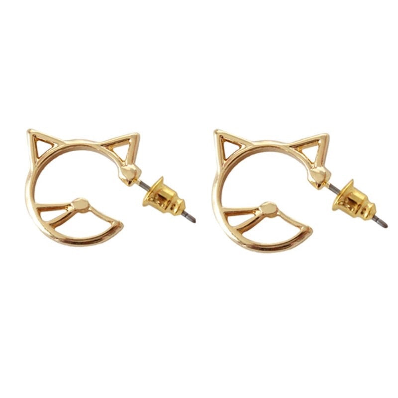 Kawaii Kitty Earrings - RESTOCKED! - The Songbird Collection